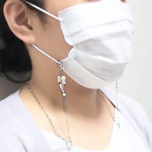 マスクの付け外しに便利なマスク ネック ストラップ がおすすめ スワロフスキーを使用